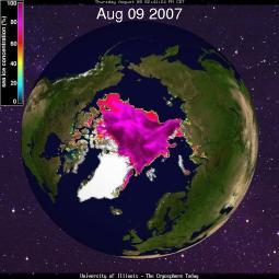 Arctic 9 August 2007