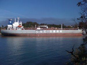 Oil tanker in Greenwich, Sydney