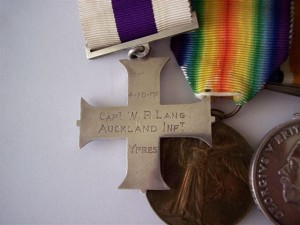 Captain W R Lang Military Cross