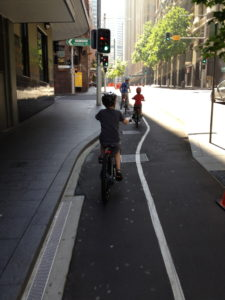 Cycling on Sydney's bike paths
